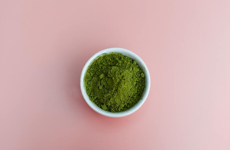 groene matcha poeder