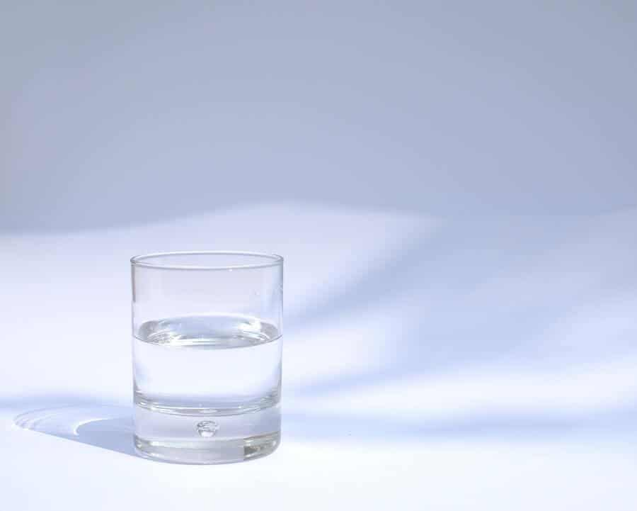glas water vasten